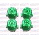 Botones Bala Aluminio verde