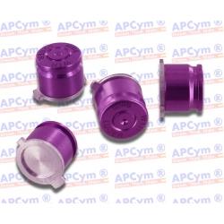 Botones Bala Aluminio morado