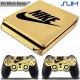 Vinilo PS4 Slim decorativo Oro Efecto Espejo