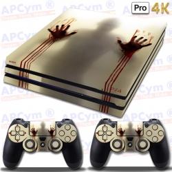 Vinilo PS4 PRO zombies manos de sangre