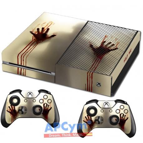 Vinilo Xbox One zombies manos de sangre