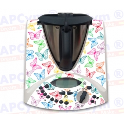 Vinilo Thermomix TM31 mariposas colores