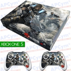 Vinilo Xbox One slim gears of war