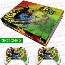 Vinilo Xbox One Slim Bob Marley Reggae Con Rejilla