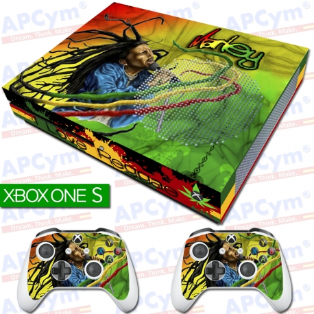 Vinilo Xbox One Slim bob marley reggae Rejilla