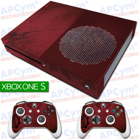 Vinilo Xbox One Slim gears of war 4 edicion coleccionista Con Rejilla