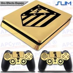 Vinilo PS4 Slim Decorativo Oro Efecto Espejo colchoneros