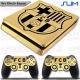 Vinilo PS4 Slim Decorativo Oro Efecto Espejo FCB