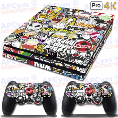 Vinilo PS4 PRO Masters At Work stickers
