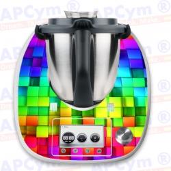 Vinilo Thermomix TM5 Cubos de Colores