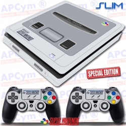 Vinilo PS4 Slim Retro Super Nintendo SNES