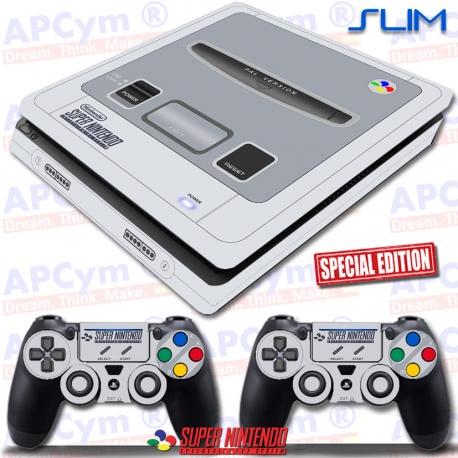 Vinilo PS4 Slim Retro Super Nintendo SNES