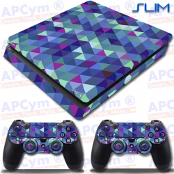 Vinilo PS4 Slim Rombos de Colores