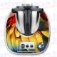 Vinilo Thermomix TM5 Plumas de Colores