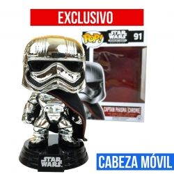 Star Wars Captain Phasma Chrome Figura Funko POP! Vinyl