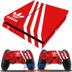 Vinilo Playstation 4 Fat Rojo y Blanco