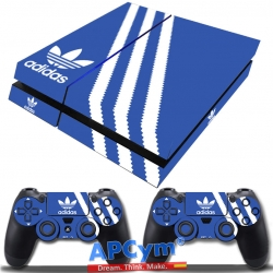 Vinilo Playstation 4 Fat Azul y Blanco