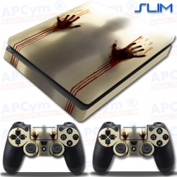 Vinilo PS4 Slim manos de sangre zombie