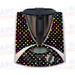 Vinilo Thermomix TM31 Negra Puntos de Colores