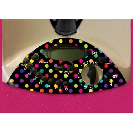 Vinilo Thermomix TM31 Panel Negro Puntos de Colores