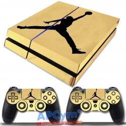 Vinilo PS4 Fat Oro Efecto Espejo michael jordan