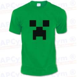 Camiseta verde minecraft creeper