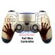 Vinilo para Mando Completo PS4 Zombie Manos de Sangre