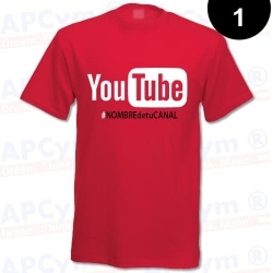 Camiseta Tu Canal YouTube Roja