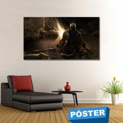 Poster Dark Souls con Protector en Brillo