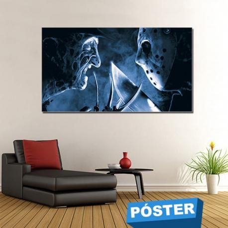 Poster Freddy Jason con Protector en Brillo
