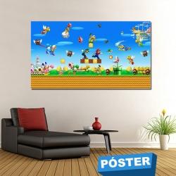 Poster Mario con Protector en Brillo