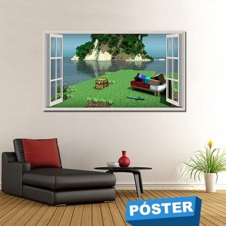 Poster Minecraft con Protector en Brillo
