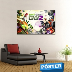 Poster Plants VS Zombies 2 con Protector en Brillo