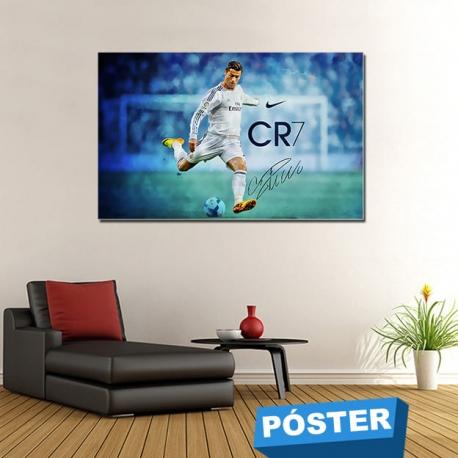 Poster CR7 con Protector en Brillo