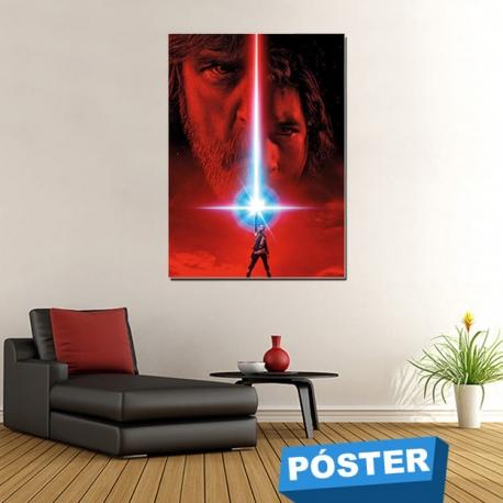 Poster Star Wars Ultimo Jedi con Protector en Brillo