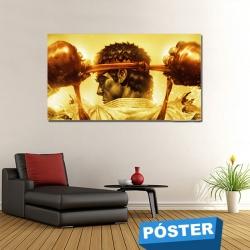 Poster Ryu con Protector en Brillo