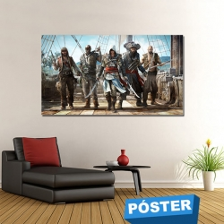 Poster Assassins Creed con Protector en Brillo