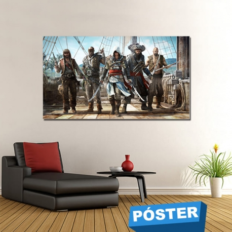 Poster Assassins Creed con Protector en Brillo