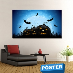 Poster Halloween con Protector en Brillo