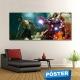 Poster Hulk Iron Man con Protector en Brillo