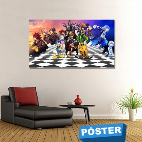 Poster Kingdom Hearts con Protector en Brillo