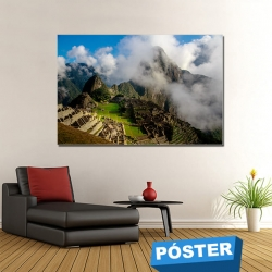 Poster Machu Picchu con Protector en Brillo