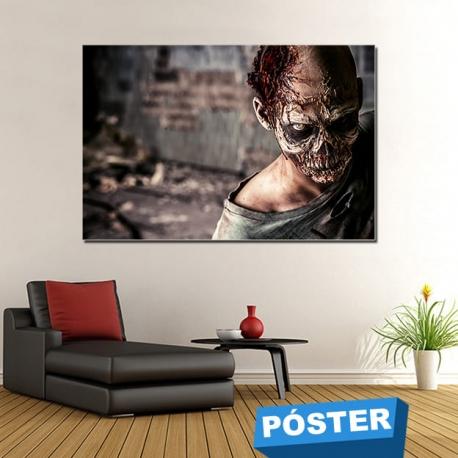 Poster Zombie con Protector en Brillo