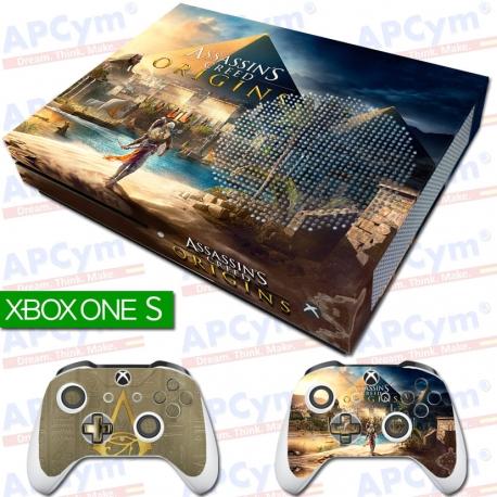 Vinilo Xbox One Slim Assassins Creed Origins Con Rejilla