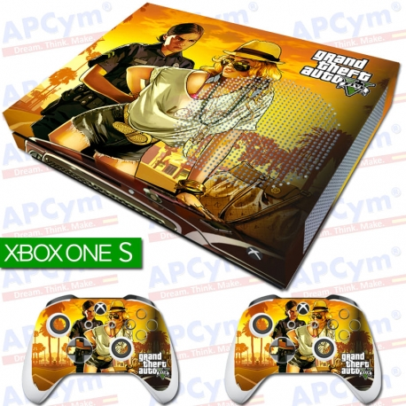 Vinilo Xbox One Slim GTA V Con Rejilla