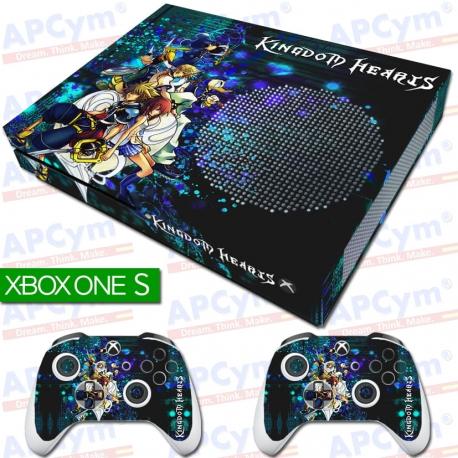 Vinilo Xbox One Slim Kingdom Hearts Personajes Con Rejilla