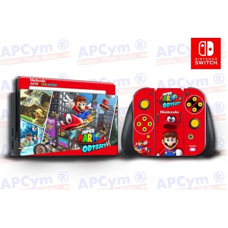 Vinilo Nintendo Switch Mario Odissey