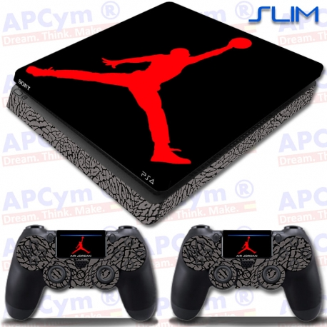 Vinilo PS4 Slim Jordan Red