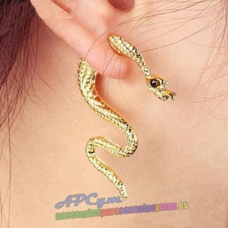 """Pendiente Serpiente modelo """"Snake"""" color Gold (oro)"""