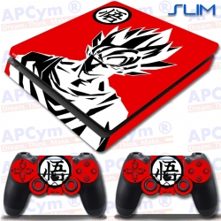 Vinilo PS4 Slim Goku Rojo